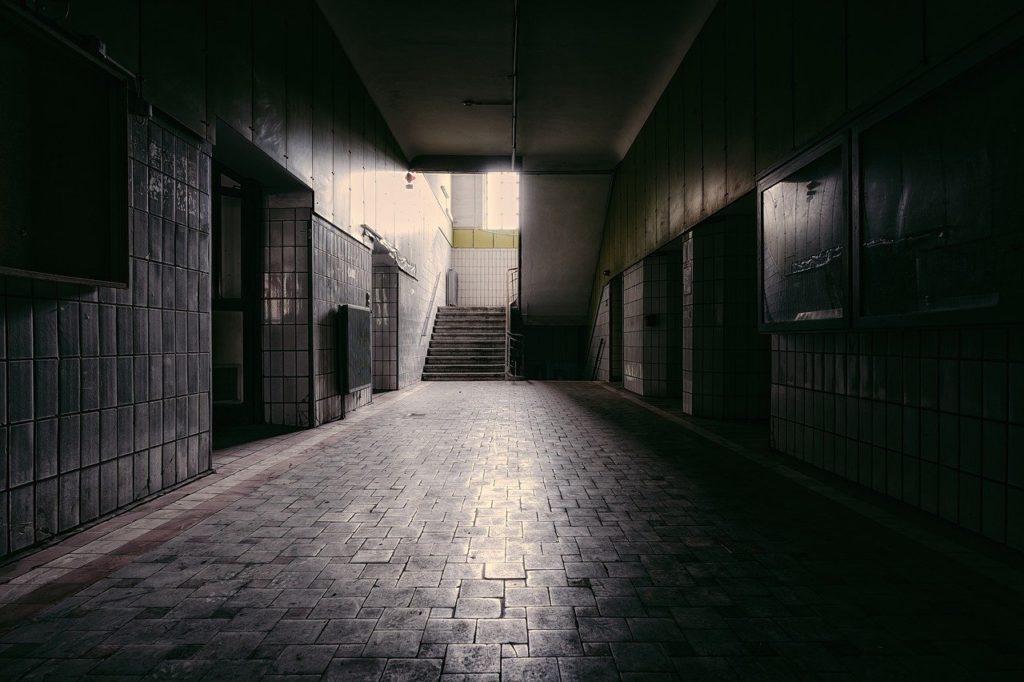 floor, hallway, corridor